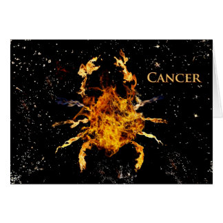Cancer the crab card