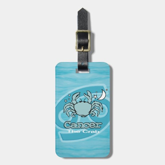 Cancer The Crab horoscope id luggage tag