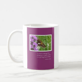 Cancer Treatments Support Encourage Butterfly Coffee Mug