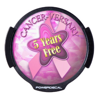 Cancer-versary 5 Years Free LED Car Decal