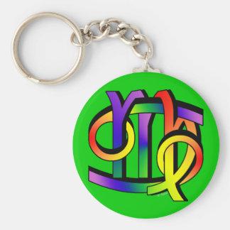 Cancer & Virgo GLBT Keychain