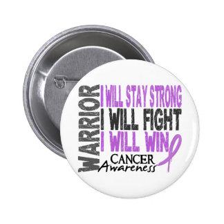Cancer Warrior 2 Inch Round Button