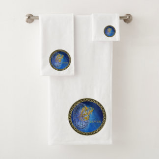 Cancer Zodiac Astrology design Horoscope Bath Towel Set