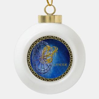 Cancer Zodiac Astrology design Horoscope Ceramic Ball Christmas Ornament