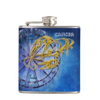 Cancer Zodiac Astrology design Horoscope Hip Flask