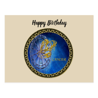 Cancer Zodiac Astrology design Horoscope Postcard