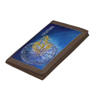 Cancer Zodiac Astrology design Horoscope Trifold Wallets