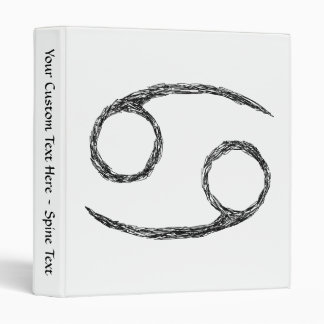 Cancer. Zodiac Astrology Sign. 3 Ring Binders