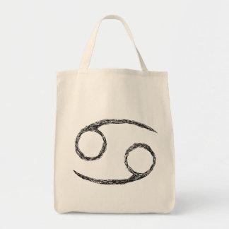 Cancer Zodiac Astrology Sign Canvas Bag