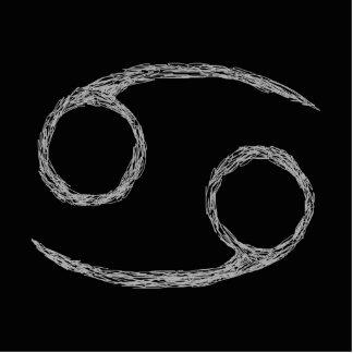 Cancer. Zodiac Astrology Sign. Black. Photo Sculpture Ornament