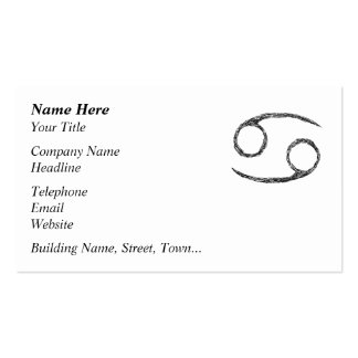 Cancer. Zodiac Astrology Sign. Pack Of Standard Business Cards