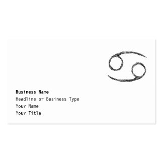 Cancer. Zodiac Astrology Sign. Business Card