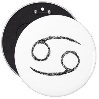 Cancer. Zodiac Astrology Sign. Buttons
