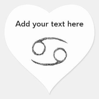 Cancer. Zodiac Astrology Sign. Heart Sticker