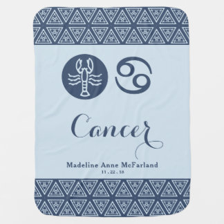 Cancer Zodiac Baby Blanket