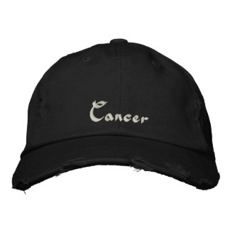 Cancer Zodiac Embroidered Cap / Hat