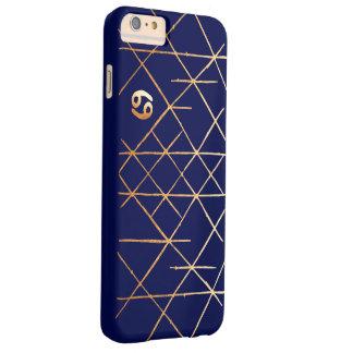 Cancer Zodiac Geometric Gold & Navy Phone Case