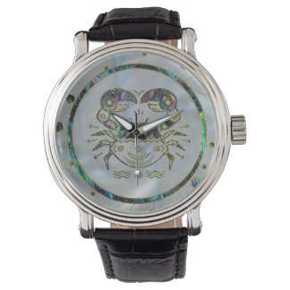 Cancer Zodiac Gold Abalone on Constellation Watch