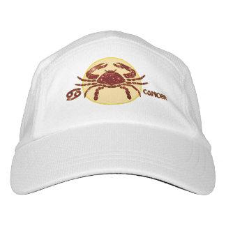 Cancer Zodiac Knit Performance Hat, White Cap