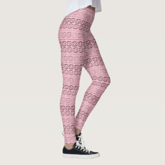 Cancer Zodiac Pattern Leggings
