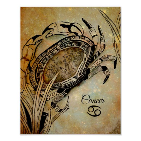 Cancer Zodiac Poster