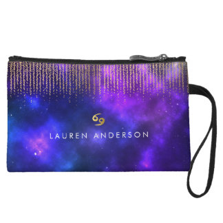 Cancer Zodiac Pretty Cosmetic Bag