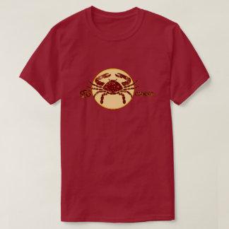Cancer Zodiac Ruby color Designer T-Shirt