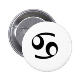 Cancer Zodiac Sign Pinback Buttons