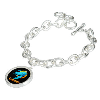 Cancer zodiac sign charm bracelets