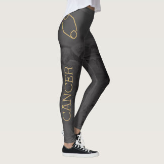 Cancer Zodiac Sign | Custom Background + Text Leggings