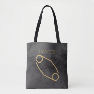 Cancer Zodiac Sign | Custom Background + Text Tote Bag