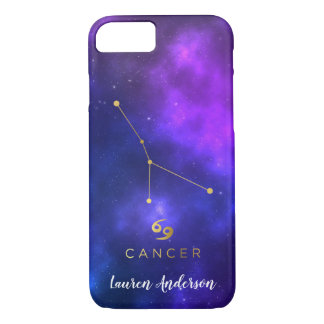 Cancer Zodiac Sign Custom Name IPhone Case