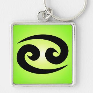 Cancer Zodiac Sign Green Key Chain