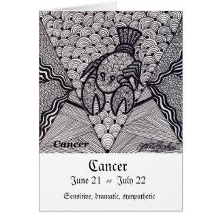 Cancer  (Zodiac sign) Greeting Card