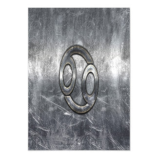 Cancer Zodiac Sign in Industrial Style Magnetic Invitations