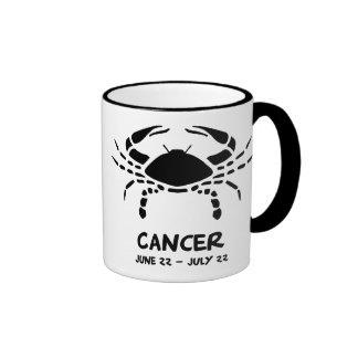 Cancer zodiac sign ringer mug