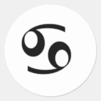 Cancer, Zodiac Sign Round Sticker