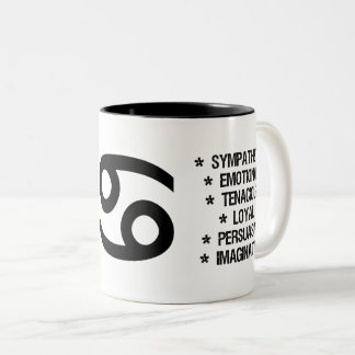 "Cancer Zodiac Sign (""the brave crab"") Two-Tone Coffee Mug"