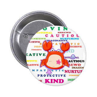 Cancer Zodiac Sign Traits Buttons