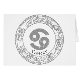 Cancer Zodiac sign vintage Greeting Card