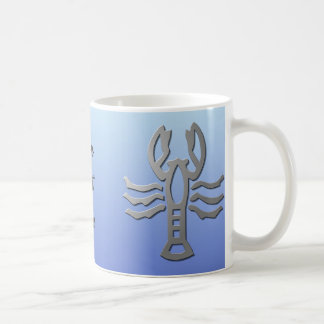 Cancer Zodiac Star Sign In Light Silver Mugs