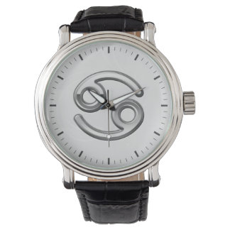 Cancer Zodiac Symbol - Cool Astrology Sign Wristwatch