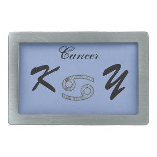 Cancer Zodiac Symbol Element by Kenneth Yoncich Rectangular Belt Buckle