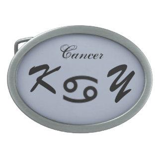 Cancer Zodiac Symbol Standard by Kenneth Yoncich Oval Belt Buckle