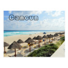 Cancun Beach Oceanfront Waves Tourist Postcard