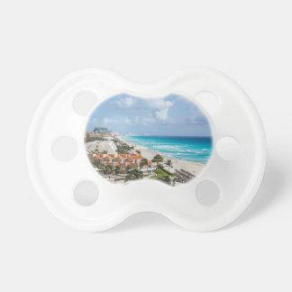 Cancun city on beachside pacifier