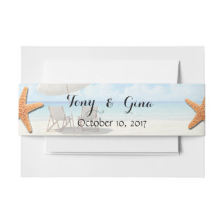 Cancun Destination Wedding Belly Bands Invitation Belly Band