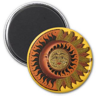 Cancun Mayan Moon and Sun  Magnet