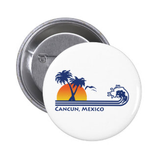 Cancun Mexico 2 Inch Round Button