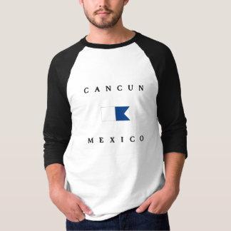 Cancun Mexico Alpha Dive Flag T-Shirt